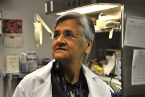 Dr. Renu Virmani, a pathologist, in her lab in Gaithersburg, Maryland. With the use of autopsies, her research helped change the way patients with certain heart conditions are treated in America. Dr. Virmani says she finds the low rates of autopsies done on patients who die in a hospital to be alarming. (Habiba Nosheen/ProPublica)
