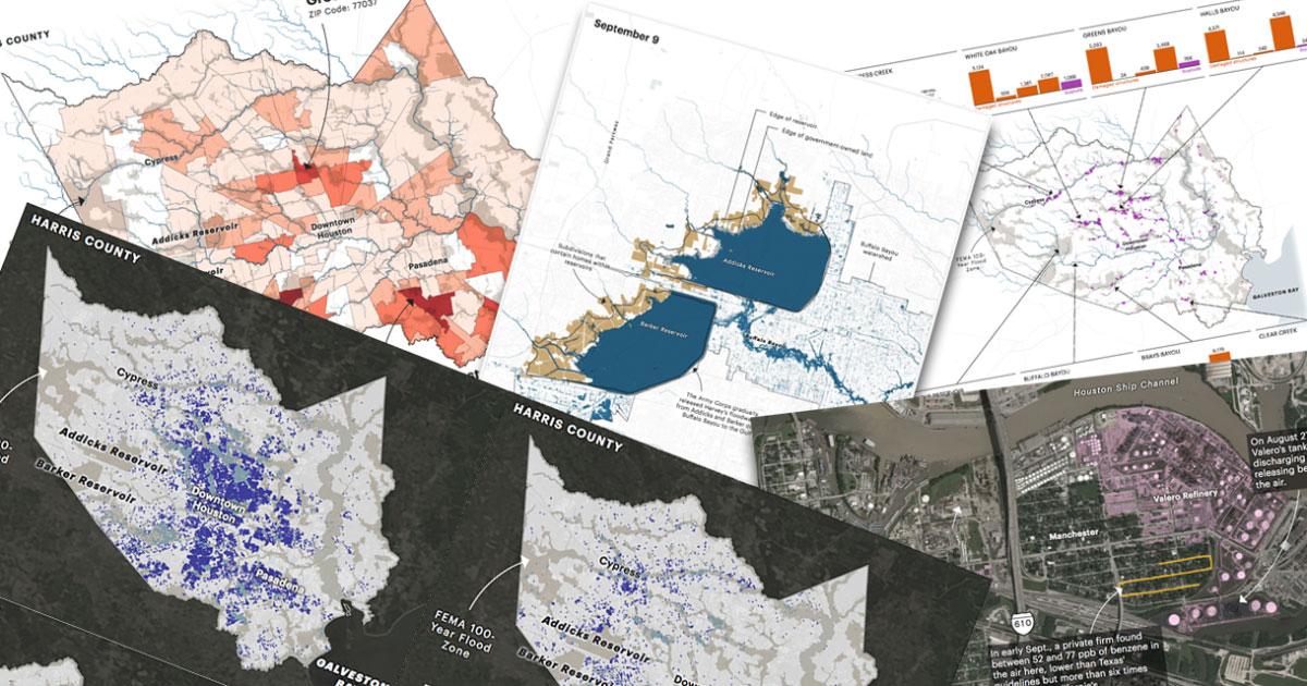 How Harvey Hurt Houston, in 10 Maps | ProPublica