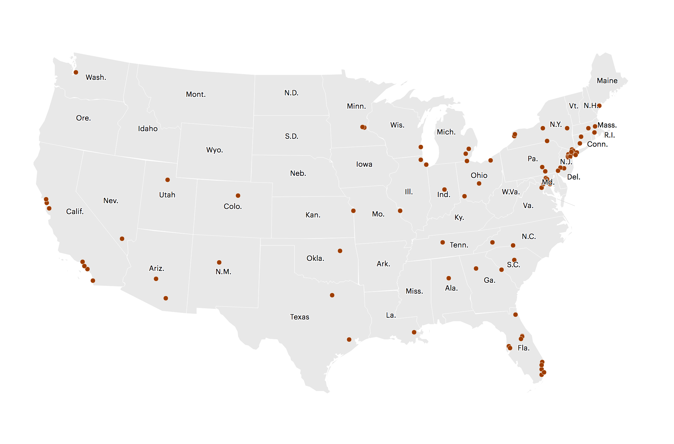 Map Bomb Threats to Jewish Community Centers and Organizations