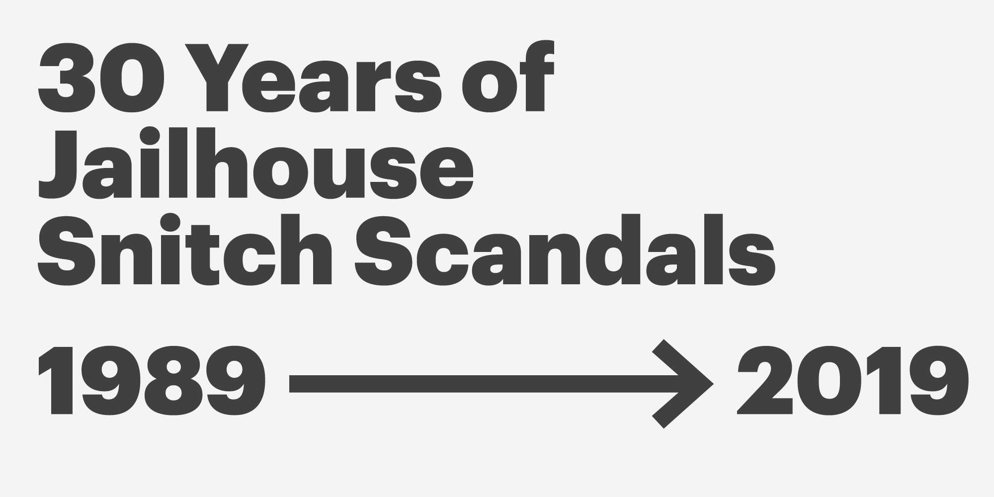 30 Years of Jailhouse Snitch Scandals